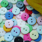 14mm Mixed Colour Flat Round Buttons Sewing Scrapbooking Cardmaking Craft