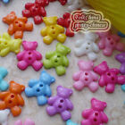 Assorted Little Bear 15mm Plastic Buttons Sewing Scrapbooking Cardmaking Craft