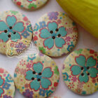 Green Mint 30mm Wood Buttons Sewing Scarpbooking Craft A007