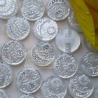 White Crescent 20mm Acrylic Resin Button Sewing Craft 2808#34