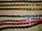 SEQUIN BRAID - 10 METRES x 15mm - VARIOUS COLOURS - STAGE COSTUMES, DANCEWEAR