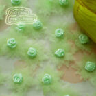 Green Organza Flower With Rose 30mm Sewing Scrapbooking Appliques JMOR