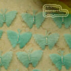 Blue Organza 30mm wide Butterfly Scrapbook Sewing Appliques Trim Craft JMBB