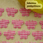 Hot Pink Butterfly Gingham Scrapbook Padded Sewing Trim Craft XHBTB
