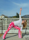 New HAPPY TIE DYE YOGA PANTS Valentine Pink Red White AMERICAN APPAREL All Sizes