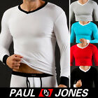 2012 Muscle Men's Smooth WJ Thermal underwear Sexy Modal tight Tops Long T-shirt