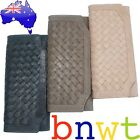 New Manzoni Woven Full Grain Leather Wallet Purse      Trusted Australian Seller
