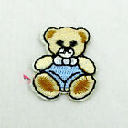 Blue Nappy Bear Sew/Iron On Patches 23mm R0407