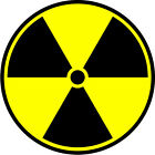 Radioactive Symbol x 6 Vinyl stickers - Various Sizes