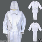 New Baby Boy Christening Baptism Gown Outfit size XS S M L XL (0M to 24M) White