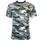 URBAN CAMO/CAMOUFLAGE ARMY COTTON T-SHIRT - All Sizes Military Top