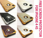 TEXTURE ALUMINIUM SERIES CASE BACK COVER & SCREEN PROTECTOR FOR IPHONE 4 4G 4S