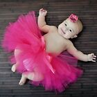 GIRLS INFANT SPRING BOUTIQUE PARTY TUTU HOT PINK BABY SHOWER GIFT PHOTO PROPS C