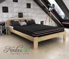 "King size bed"" Sara"" new wooden 5ft  pine oak walnut alder furniture"