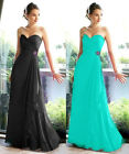 Aqua Blue Chiffon Evening Bridesmaids Dress Formal Gown Size 20 18 16 14 12 10 8