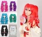 50cm Long Girls Lolita Culy wave Clip on ponytails Cosplay wig RW137 7Colors