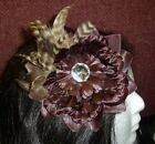 Floral Ostrich Marabou Feather Hair Clip Brooch Lapel Pin Corsage Fascinator NEW