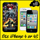 Avengers Assemble iPhone 4 or 4S Case Cover The Movie Film Hulk Iron Man Apple