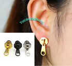 Made in Korea PUNK Fashion Zipper Pull Head SINGLE Stud Earring Stainless Steel