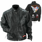 Mens Black Buffalo Leather Motorcycle Biker Scooter Jacket~S M L XL 2XL 3XL 4XL