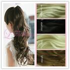 50cm long 4 colors clip on ponytail hairpiece extension wavy fashion wig PJ18