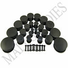 """V093 Black Acrylic Single Flare Ear Plugs 10G to 2"""" 2.5 to 50mm 2 0 00 1/2 inch image"""