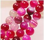 New!6mm 8mm Pink Agate Onyx  Loose Bead 15''