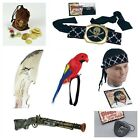 PIRATE PIRATES CARIBBEAN PISTOL,PARROT,EYEPATCH ,CUTLASS ETC FANCY DRESS