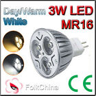 MR16 3 LED 3W Spot Light Bulbs Day/Warm Energy Saving HY-4011