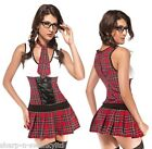 ☆ St Trinians Class President School Girl Sexy Adult Fancy Dress Costume Outfit☆