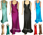 Formal Evening Bridesmaid Ball Prom Dress Satin Full Length Plus Size 24 to 8
