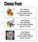 30 Flower Bouquet Personalized Address Labels