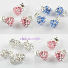 10pcs/20pcs Silver Plated Rhionestone Ball Charm Pendants 3 Colours C7042