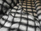 Super Luxury Faux Fur Fabric BLACK & WHITE SQUARE - Bulk Discounts FREE POST