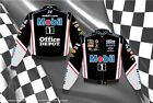 NASCAR Jacket-Tony Stewart Mobil 1 Mens Black Nascar Twill Jacket TSO303-MOB1-BL
