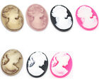 Resin Lady Oval Cameo Embellishment M0309