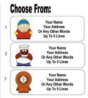 30 South Park Cartman Chef Kenny Personalized Address Labels