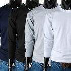 Men crewneck solid casual basic Elastic long sleeve t-shirt (JU_001)