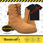 New Oliver Men's Work Safety Boots Shoes Steel Toe ZIP High Leg AU Size 55385