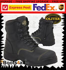 New Oliver ATs Work Boots ZIP+Lace Steel Toe Building/Tradie FREE EXPRESS 55245Z