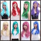 55cm long straight Smooth Cosplay hair 12 color multiple list+free wig cap CW143