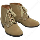 WW2 GERMAN Army Combat Leather LOW BOOTS - All Sizes WWII Ankle Military Shoe