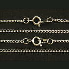 """100 x Silver Plated Fine Metal Necklace Curb Chains 16"""" 18"""" 20"""" 22"""""""