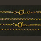"100 x Gold Plated Fine Metal Necklace Curb Chains 16"" or 18"""