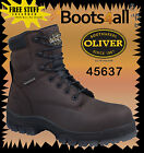 Oliver Work Boots Steel Toe AT's 45627 Claret Safety Brand New! *All Sizes