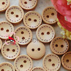 Natural Round Stroke 13mm Wood Buttons Sewing Scarpbooking Craft C044