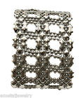 New Sergio Gutierrez Liquid Metal by SG Silver Mesh Cuff Bracelet B83 Rock Star!