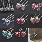 10/50pcs Crystal Strawberry Hairpin Fashion Elegant 8 Colors 0290BZ
