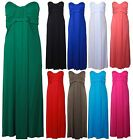 Womens Strapless Plus Size Boob Tube Ladies Bandeau Long Maxi Summer Dress 16-22
