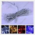 30-LED Strip Light Lighting Power Battery White Blue Red Still Solid Flash Xmas